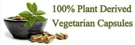 100% Plant Delivered Veg Capsules